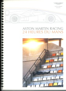 Programme for VIP Aston Martin Racing guests at the 2009 24 Heures Du mans