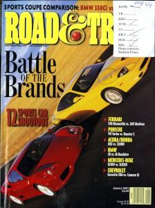 'Road and Track' Magazine, January 2001 - 'Aston Martin Vanquish'