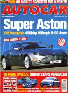 'Autocar' Magazine, 11th October 2000 - 'Super Aston'