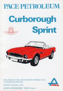 Programme for Curborough Sprint on 30th May 1982
